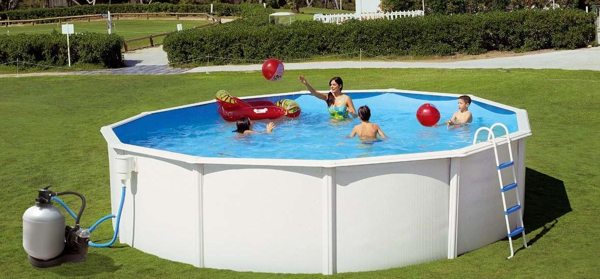Fotos de piscinas de plastico piscina x x cm ovalada for Piletas bestway precios